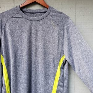 Saucony Mens LS Workout Top Marled Blue Large